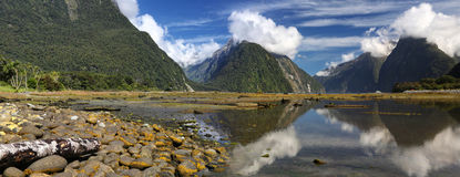 Milford Sound (Fjordland, New Zealand) Royalty Free Stock Images