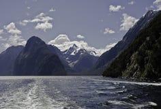Milford Sound Härliga Nya Zeeland Arkivbilder