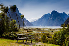 Milford Sound landscape Royalty Free Stock Photo