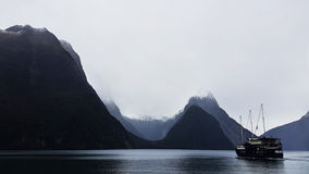 Milford Sound magnifico fotografie stock