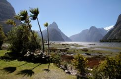 Milford Sound and Mitre Peak Royalty Free Stock Photos