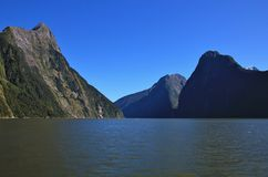 Milford Sound and Mitre Peak Stock Images