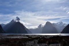 Milford Sound na maré baixa Imagens de Stock Royalty Free