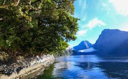 Milford Sound, Neuseeland Stockbilder