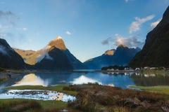 Milford Sound, Neuseeland Lizenzfreies Stockbild
