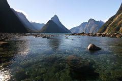 Milford Sound New Zealand. Milford Sound on the south island in New Zealand Royalty Free Stock Image