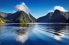 Milford Sound, New Zealand. Fiord Milford Sound, South Island, New Zealand Stock Photos