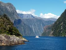 Milford Sound, New Zealand. Milford Sound, Fiordland, South Island, New Zealand Royalty Free Stock Photography