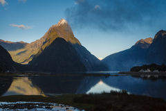 Milford Sound, New Zealand. Milford Sound, south island in New Zeland. Beautiful landscape royalty free stock photography