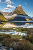 Milford Sound, New Zealand. Milford Sound, south island in New Zeland. Beautiful landscape royalty free stock image