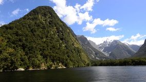 Milford Sound, New Zealand stock footage