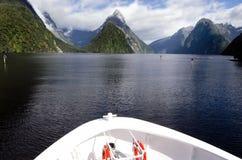 Milford Sound - Nova Zelândia imagem de stock