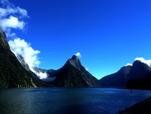 Milford Sound, Nova Zelândia Foto de Stock Royalty Free