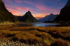 Milford Sound, Nueva Zelanda Fotografía de archivo