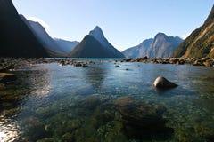 Milford Sound Nueva Zelandia Foto de archivo libre de regalías