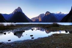 Milford Sound, Nueva Zelandia Foto de archivo