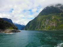 Milford Sound Nuova Zelanda Fotografie Stock