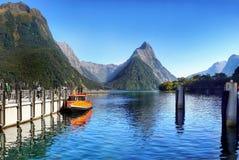 Milford Sound, Nuova Zelanda Immagini Stock Libere da Diritti