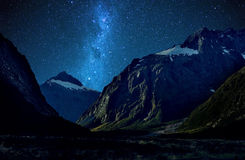 Milford Sound Nya Zeeland Arkivbild