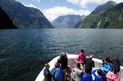 Milford Sound - Nya Zeeland Arkivbilder