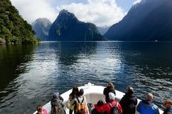 Milford Sound - Nya Zeeland Arkivbild
