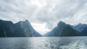Milford Sound Scenic Landscape. Take in the beauty and let the world absorb you into it Stock Image