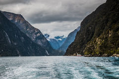 Milford Sound. Sights at Milford Sound, New Zealand Stock Photos