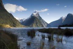 Milford Sound som är nyazeeländskt. Royaltyfria Foton