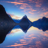Milford Sound Sunset Stock Photography