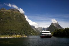 Milford Sound Tour Stock Image