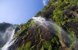 Milford Sound Waterfall Stock Photos