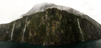 Milford Sound Waterfalls royalty free stock photo