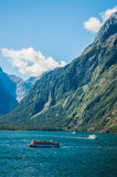 Milford sounds Boats Royalty Free Stock Photography
