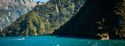 Milford sounds ship Royalty Free Stock Image