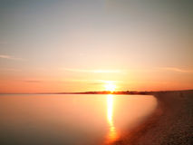 Milford Sunset. Sunset at Milford on Sea Stock Photos