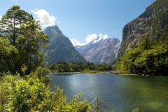 Milford track, picturesque landscape, New Zealand Royalty Free Stock Photography