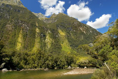 Milford track, picturesque landscape, New Zealand Stock Images