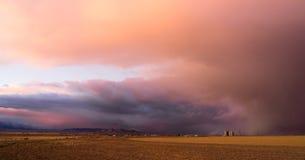 Milford Utah Storm at Sunset Great Basin USA. A storm moves in over Milford Utah at sunset making for dramtic skies Royalty Free Stock Photos