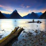 Milfordgeluid, Nieuw Zeeland Stock Afbeelding