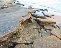 75 milhão anos de Shell fóssil velho Fotos de Stock