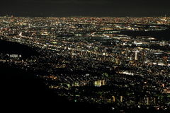 10 milhão dólares de opinião da noite de Kobe Fotografia de Stock
