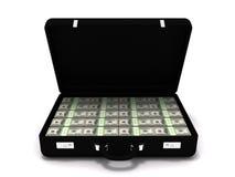 Milhão pastas do dólar Fotografia de Stock