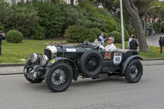 1000 milhas, Bentley 4 5 litros S C (1930), SCHREIBER Wolfgang a Fotografia de Stock