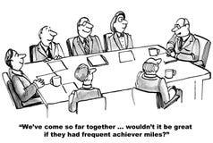 Milhas frequentes do empreendedor ilustração do vetor