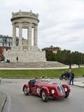 1000 milhas, Healey 2400 Silverstone (1950), BECCHETTI Marco, BECC Imagens de Stock Royalty Free