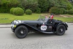 1000 milhas, SS Jaguar 100 (1937), OWENS Stephen e SCOTT-NELSON Foto de Stock Royalty Free
