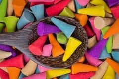 Milho colorido do incenso na colher Foto de Stock