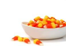 Milho de doces de Halloween em uma bacia Foto de Stock