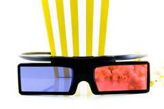 Milho de PNF e vidros 3d isolados Fotos de Stock Royalty Free