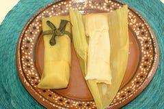 Milho doce mexicano tradicional tamal do estado de Chiapas para a celebração de Candelaria Day Imagens de Stock
